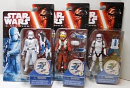 Star Wars Snow Mission 1st Order Stormtrooper, Snowtrooper, Pilot Asty figures - $27.88