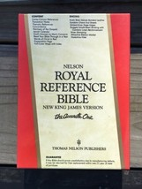 Nelson Royal Reference Bible Leather NEW IN BOX - $49.49