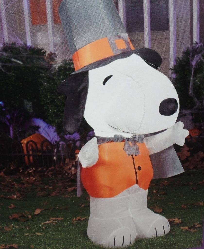 Primary image for Peanuts Snoopy Thanksgiving Pilgrim Ariblown Inflatable 4 Foot Tall NEW
