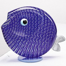 "Authentic Murano Glass Fish Sculpture 8"" Long - $148.49"