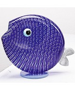 "Authentic Murano Glass Fish Sculpture 8"" Long - €133,34 EUR"