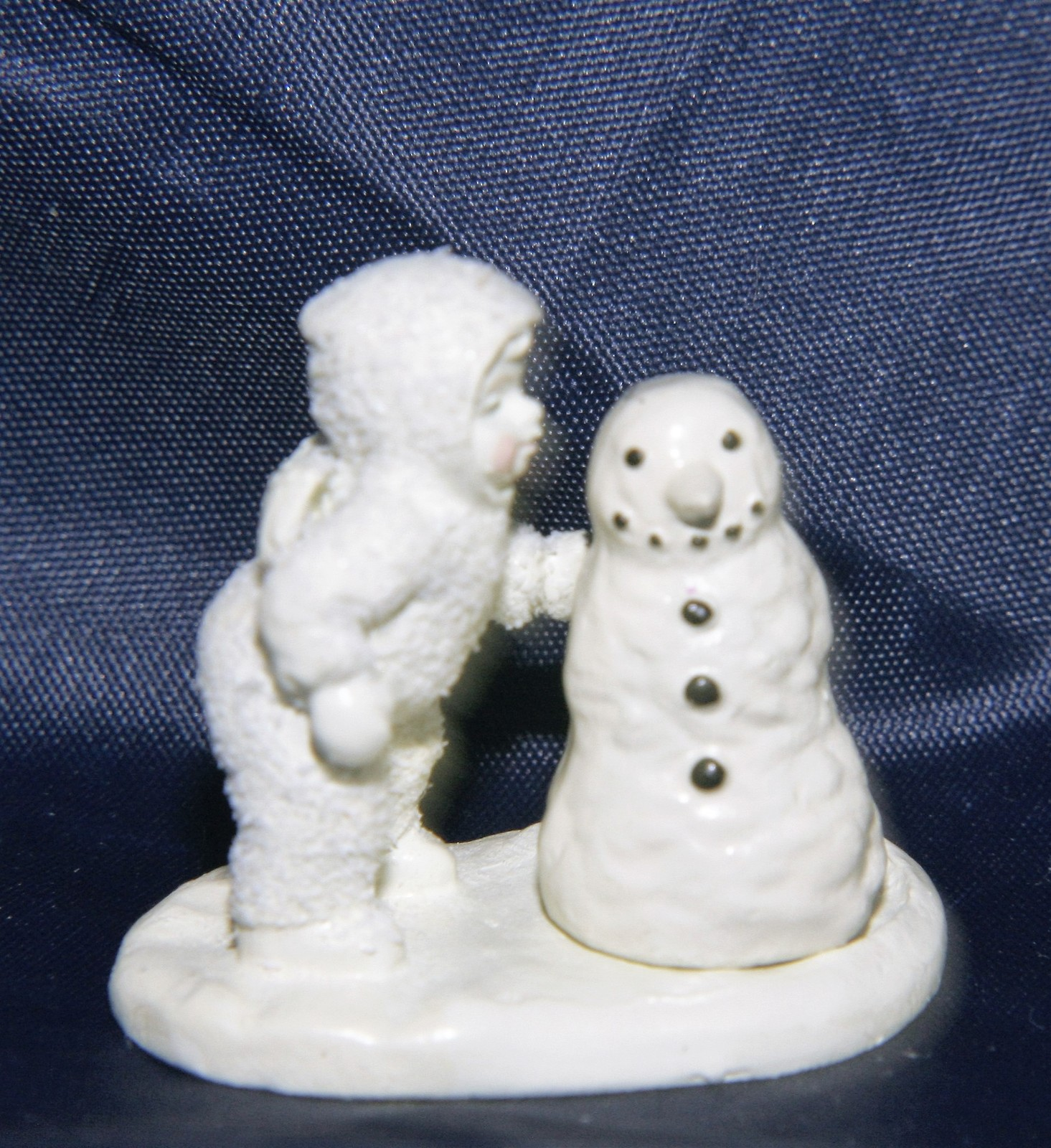 "Primary image for Dept 56 Snowbabies Miniatures Hand Painted Pewter ""Why Won't You Talk to Me?"""