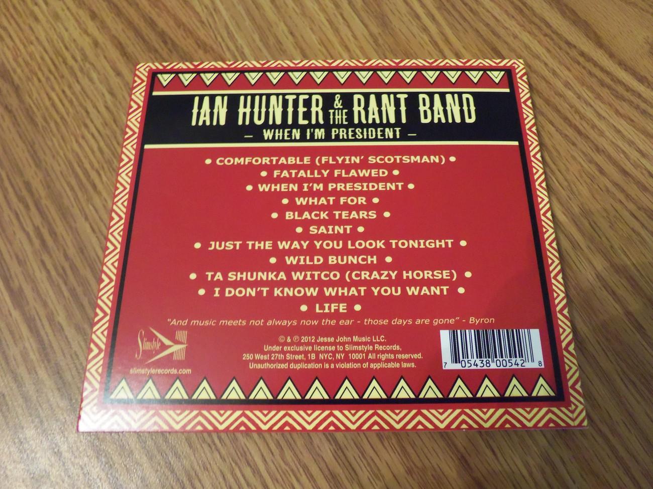 Ian Hunter When I'm President Cd 2012 Mott The Hoople David Bowie