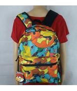 Pokemon All Over Print Backpack Pikachu Squirtle Bulbasaur Charmander Eevee - $28.04