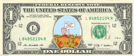 GREAT PUMPKIN Peanuts on a REAL Dollar Bill Cash Money Collectible Memor... - $6.66
