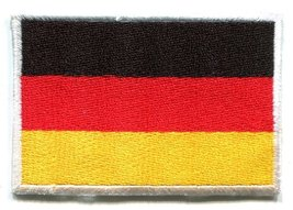 National Flag of Germany German Applique Iron-on Patch Medium New S-96 T- Shirt - $4.95