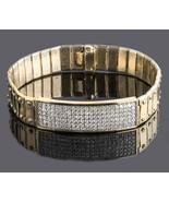3 Ct Men's ID Screw Link Diamond Bracelet 14k Yellow Gold Handmade 57.8 ... - $6,114.62