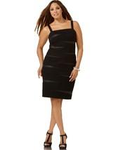 INC Women's Plus Size Faux Leather Inset Sleeveless Bandage Dress (Black... - $65.99