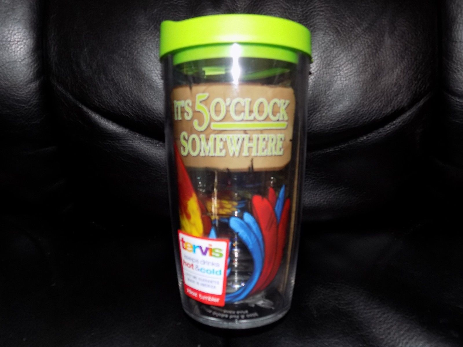 NEW 16oz TERVIS Margaritaville 5 O'Clock Somewhere Double Wall TUMBLER with Lid
