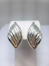 Napier Vintage Silver Tone Clip On Earrings - $15.84