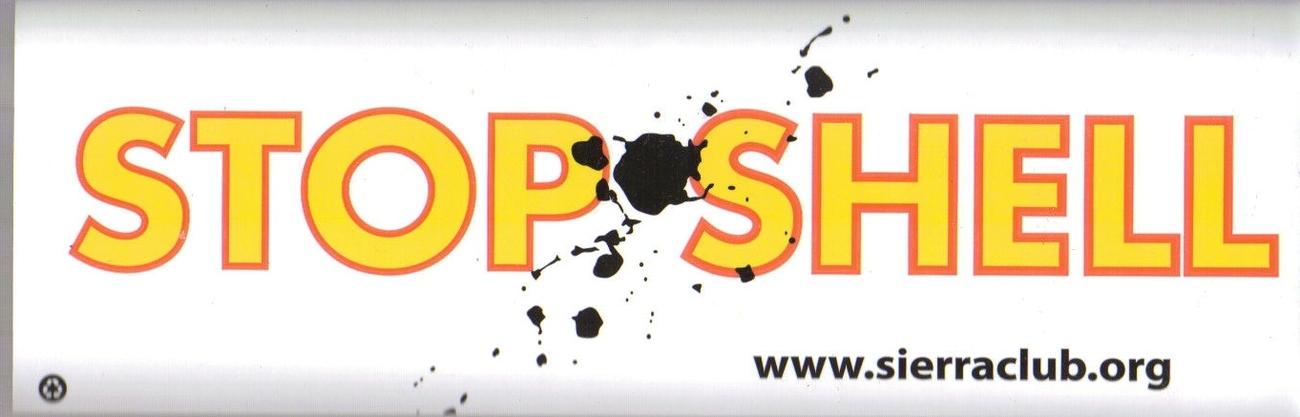 New Stop Shell Bumper Sticker!