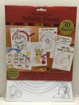 Thanksgiving Activity Sheets Great For Classroom & Parties 12 Pack In Th... - $20.00