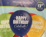 """A Year To Celebrate Happy Birthday 11"""" Latex Balloons (15 Pack) Party Supplies"""