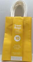Sunshine Yellow Kraft 10 Pcs 5.25x8.25x3.25in Treat Bags - $5.00