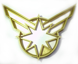 Captain Marvel Superheroes Logo Comic Movie Cookie Cutter 3D Printed USA... - $2.99
