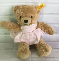 STEIFF Sleep Well 10in Teddy Bear Soft Plush Stuffed Animal in Pink Dres... - $51.47