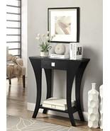 Black Finish Shelf Living Bed Room Decor Console Sofa Entry Table Drawe... - $121.31