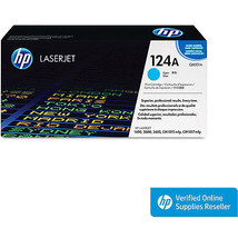 Genuine OEM HP 124A Q6001A Cyan Original LaserJet Toner Cartridge - $93.49