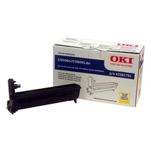 Genuine Oki 43381701 Yellow Image Drum 20000 Page For C5500n, C5800Ldn P... - $92.55