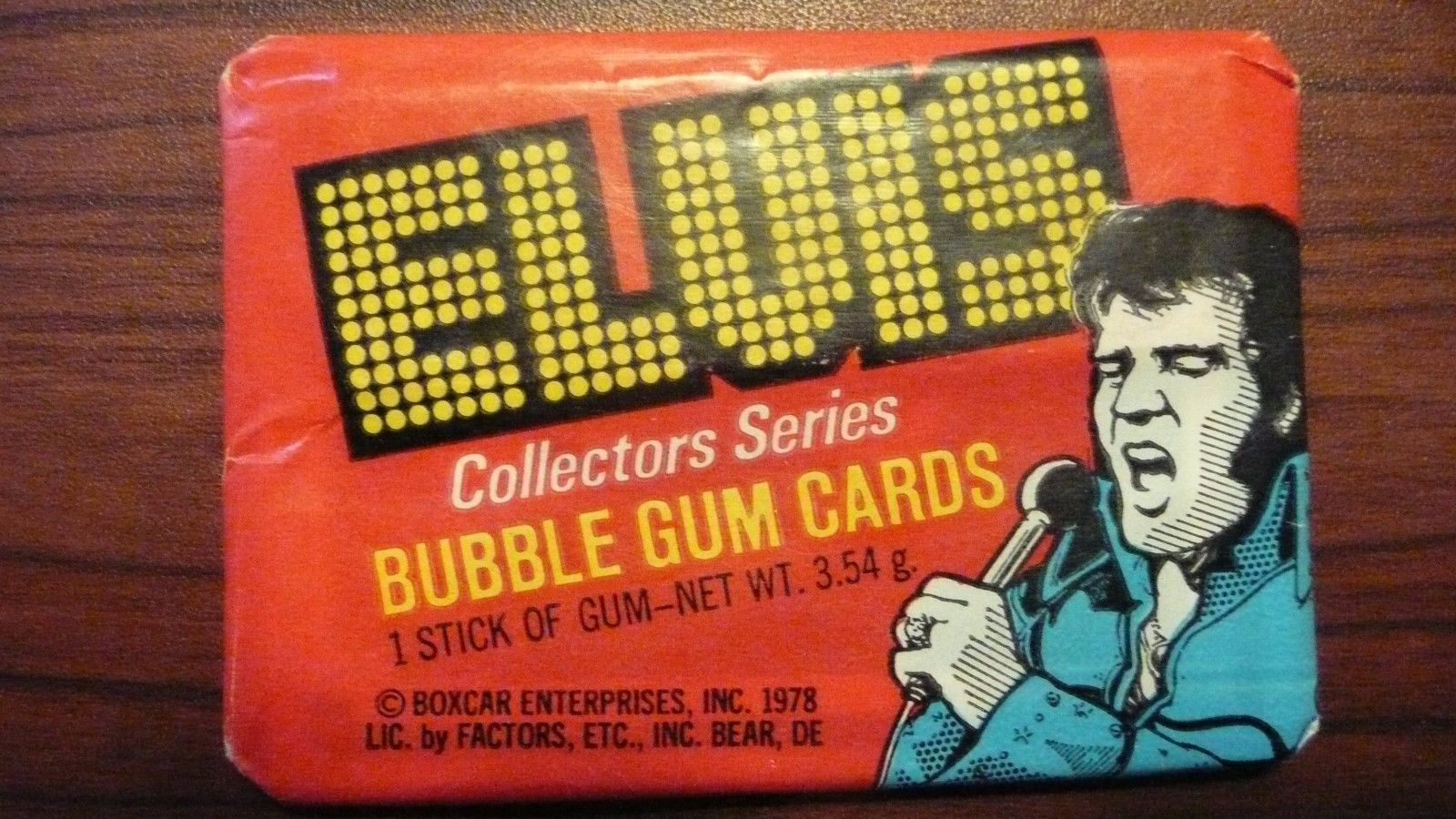 ELVIS PRESLEY 1978 Donruss Collector Series Cards Pack UNOPENED FREE SHIPPING