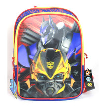"NEW Transformers 3D FX Hollogram Bumblebee/Optimus Prime 16"" Backpack/Ba... - $34.99"