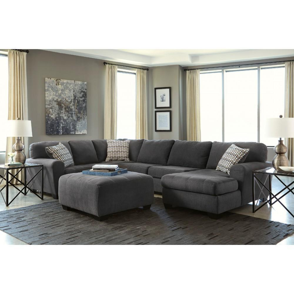 Ashley Sorenton 4 Piece Sectional in Slate Right Hand Facing Contemporary Style