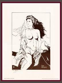 Steve Woron's Topless Girl on Horseback Signed & Numbered of only 150
