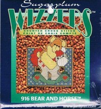 Discontinued !! Wizzers - Bear And Horse Counted Cross Stitch Kit #916 - $0.95