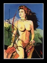 TOPLESS WARRIOR~*SIGNED* Trading Card by Steve Woron!~Buy from the artist!