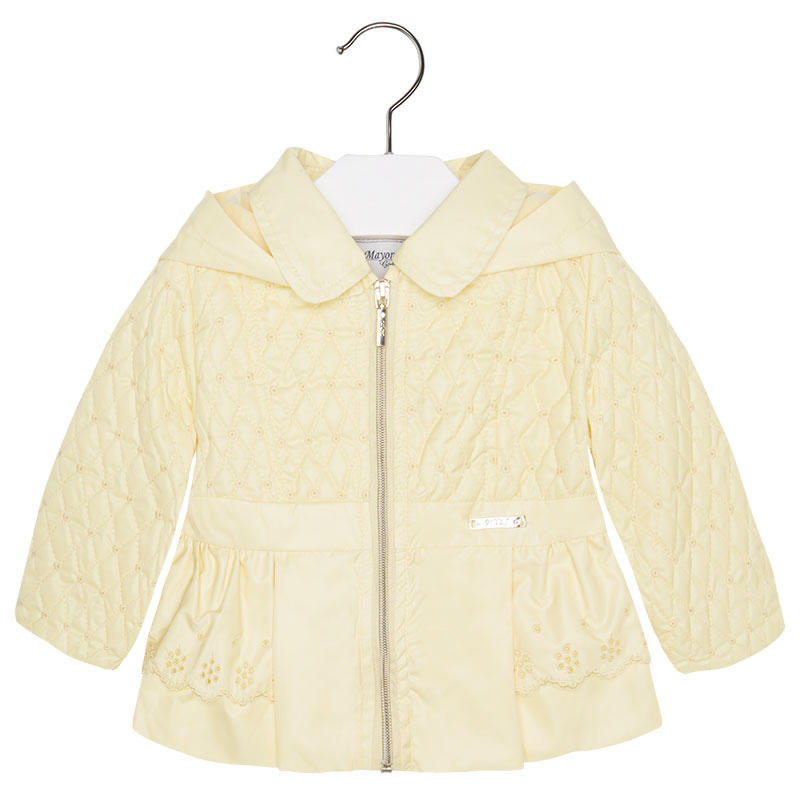 f6280aa60 Mayoral Baby Girls Embroidered Windbreaker Jacket With Removable Hood