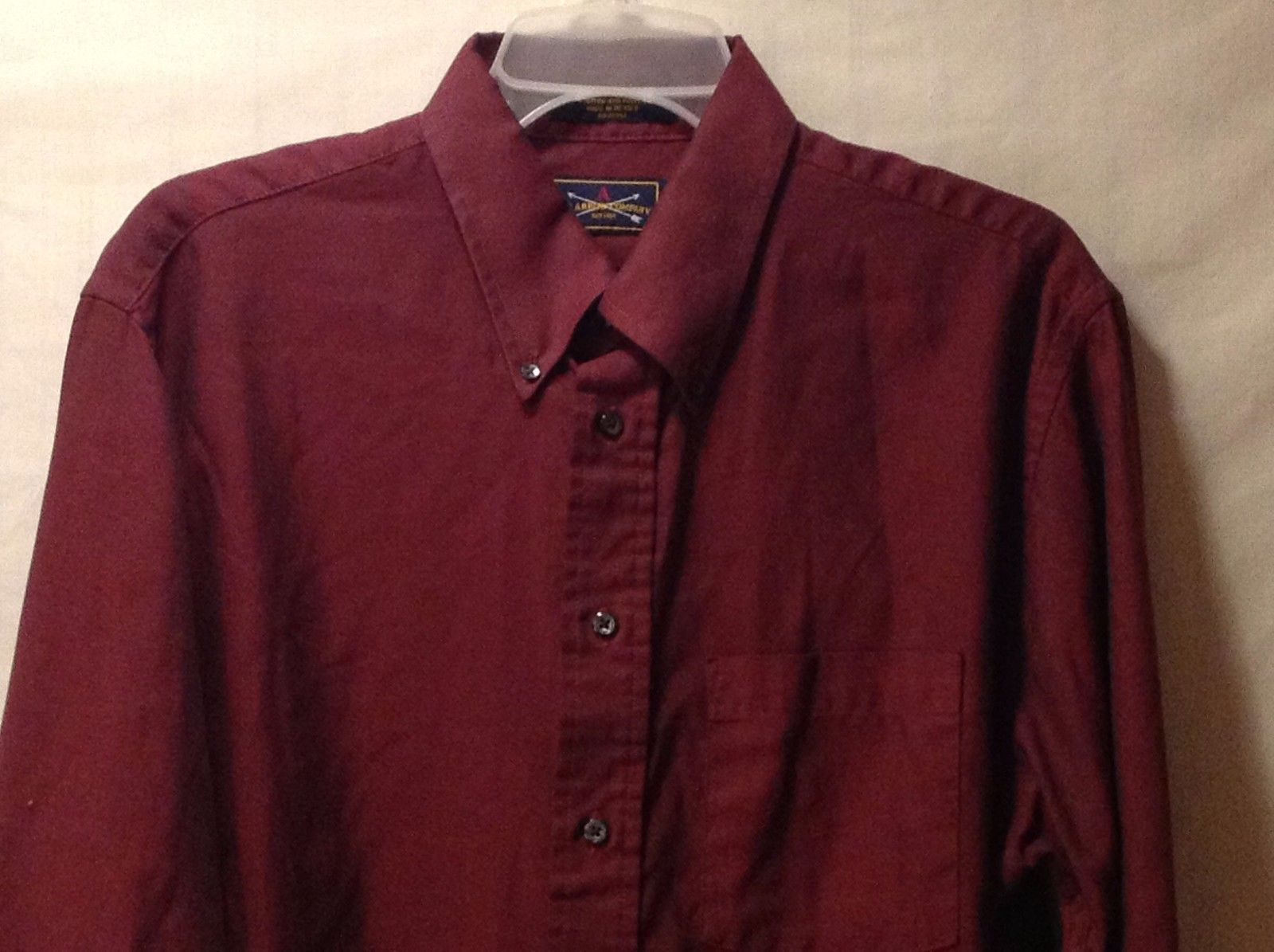 preowned excellent condition mens wine colored dress shirt