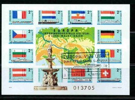 HUNGARY 1977 IMPERF BLK 128B S/S EUROPA SPECIAL CANCEL SHIPS FLAGS S1173... - $742.50