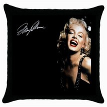 NEW Marilyn Monroe  Black Cushion Cover Throw Pillow Case-HOT!! - $15.00