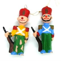 Nutcrackers Lot of 2 Injection Mold Plastic Vintage Ornaments 1950s - $2.96