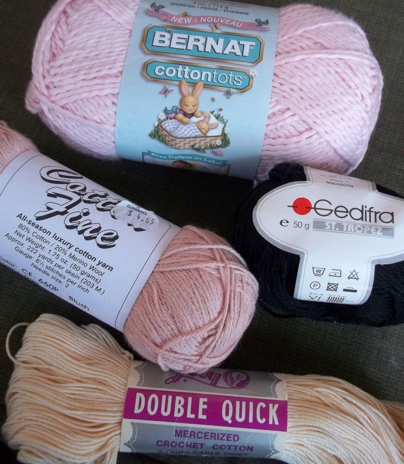 Cotton Yarn 6 Skeins Bernat Bimini Gedifra St Tropez Lily
