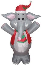 BZB Goods Lighted Christmas Blow Up Cute Elephant Yard Decoration, 4' - $40.71