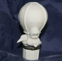 "Dept 56 Snowbabies ""FLY WITH ME"" Bisque Hinged Trinket Box 1999 - $16.33"