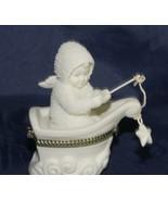 "Dept 56 Snowbabies ""Rock-A-Bye Baby "" Bisque Porcelain Hinged Trinket Box - $14.13"