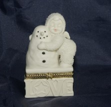 "Dept 56 Snowbabies ""I Love You"" Hinged Trinket Box - $17.42"