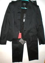 New NWT Womens 10 Designer CNC Costume National Black Suit 46 Italy Lape... - $1,255.20