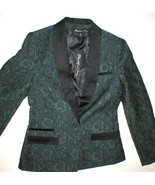 NWT $700 Elizabeth and James Blazer Jacket 8 New Dixie Dark Emerald Gree... - $318.00
