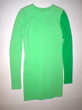 New Womens 4 NWT Italy Fausto Puglisi 40 Dress Wool Green Designer Long ... - $700.00