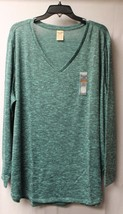 NEW WOMENS PLUS SIZE 4X 28W GREEN HACCI V NECK LIGHT WEIGHT SWEATER SHIR... - $19.33