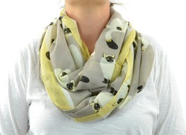 Infinity Scarf Lightweight Circle Loop Cat Kitt... - $19.77