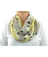 Infinity Scarf Lightweight Circle Loop Cat Kittens Woman - Grey - £15.40 GBP