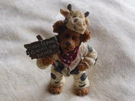 Boyd's Bears Angus Bearger...Quit Yer Béefin!-Boyds Shoe Box Bears #3230 - $19.79