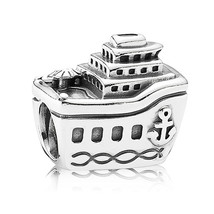 925 Sterling Silver Cruise Ship Travel European Charm Bead QJCB071 - $19.99
