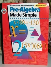 Pre-Algebra Made Simple Middle School   by Wendy Freebersyse - $6.99