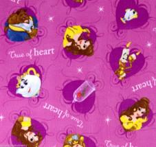 "Disney Beauty and the Beast Fleece Baby Blanket Pet Lap 30""x24"" Belle Mr... - $39.95"