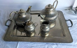 Vintage Mexican Silver Plated Silverplated Modernist Tea Set Mid Century... - $165.00